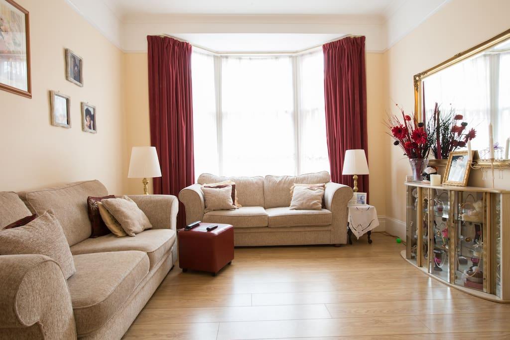 Bright large sitting room