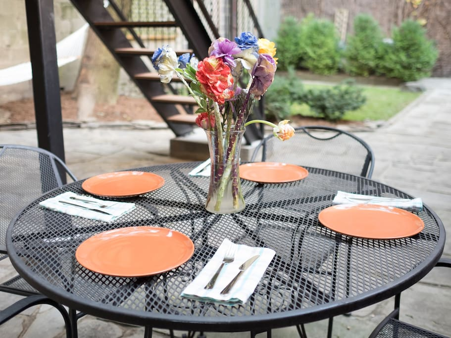 Backyard patio table