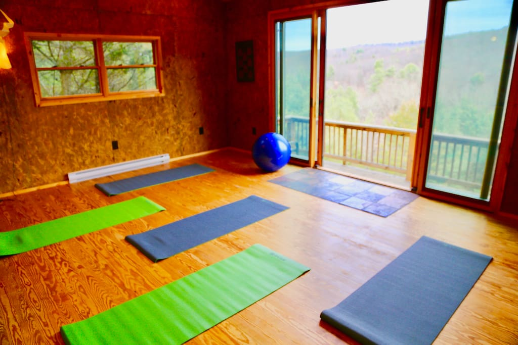 Yes we have a private yoga studio for six. Namaste!