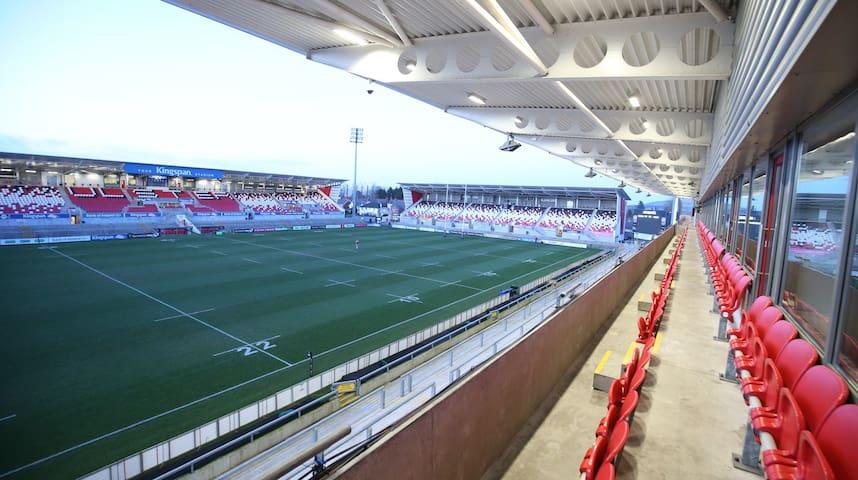 Kingspan Staduim Home of Ulster Rugby. 10 minute walk.