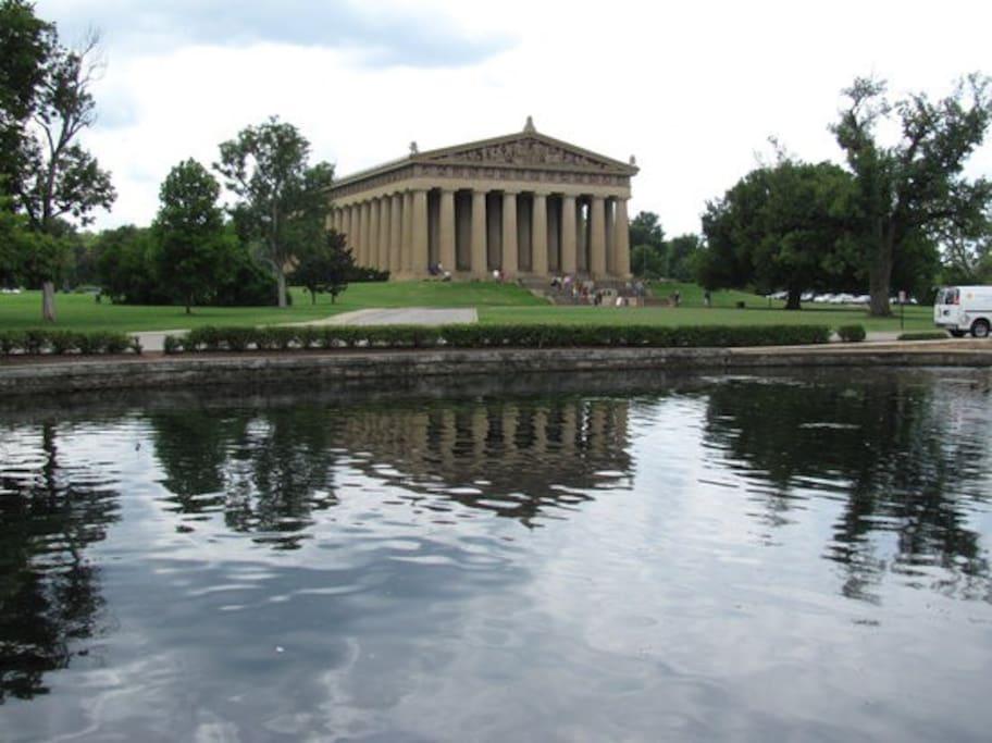 Centenniel Park & The Parthenon One mile away.