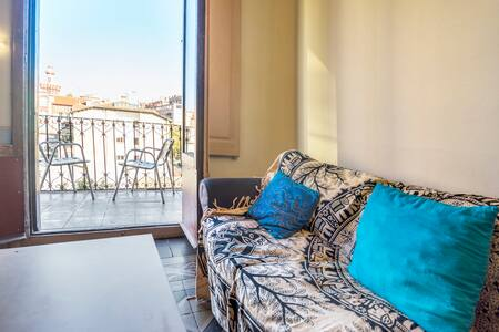 Habitacion con terraza, centro vic - Vic