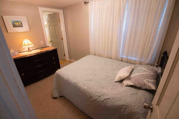 Bedroom with comfy, firm double bed.