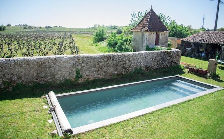 Maison de vacances au cœur des vignes