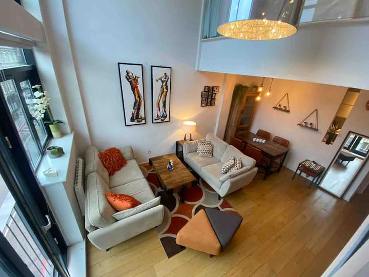 Trendy loft apartment in Shoreditch triangle for 6