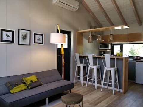 Cabaña para dos, calidez y confort. Alma Radal B