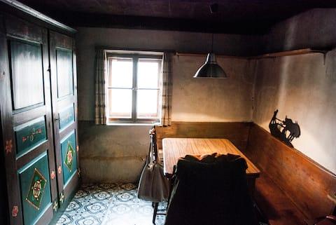 casa tradicional en pueblo rural