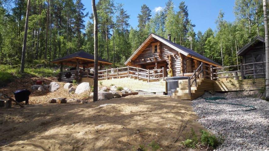 Kelo Huvilla for 8, with hot tub, by lake Päijänne