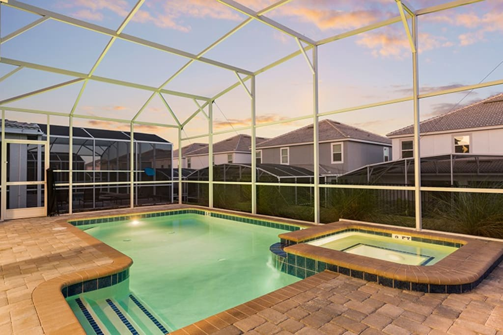 Enjoy the pool area at any time