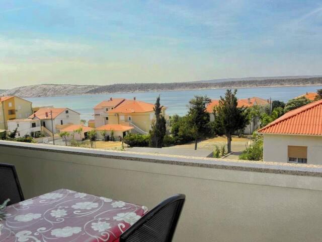 Sea view two bedroom apartment in Barbat - Barbat - Apartamento