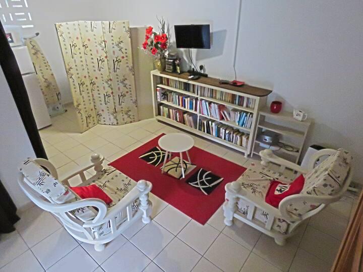 Chambre d'hôtes dans un bas de maison