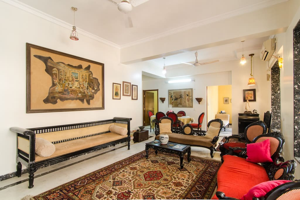 Part of living Room with the Persian carpet.