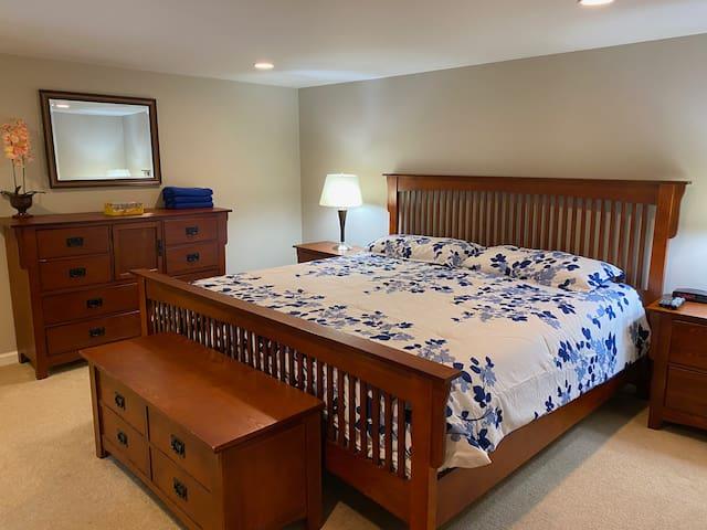 Dresser and TV in Master Bedroom