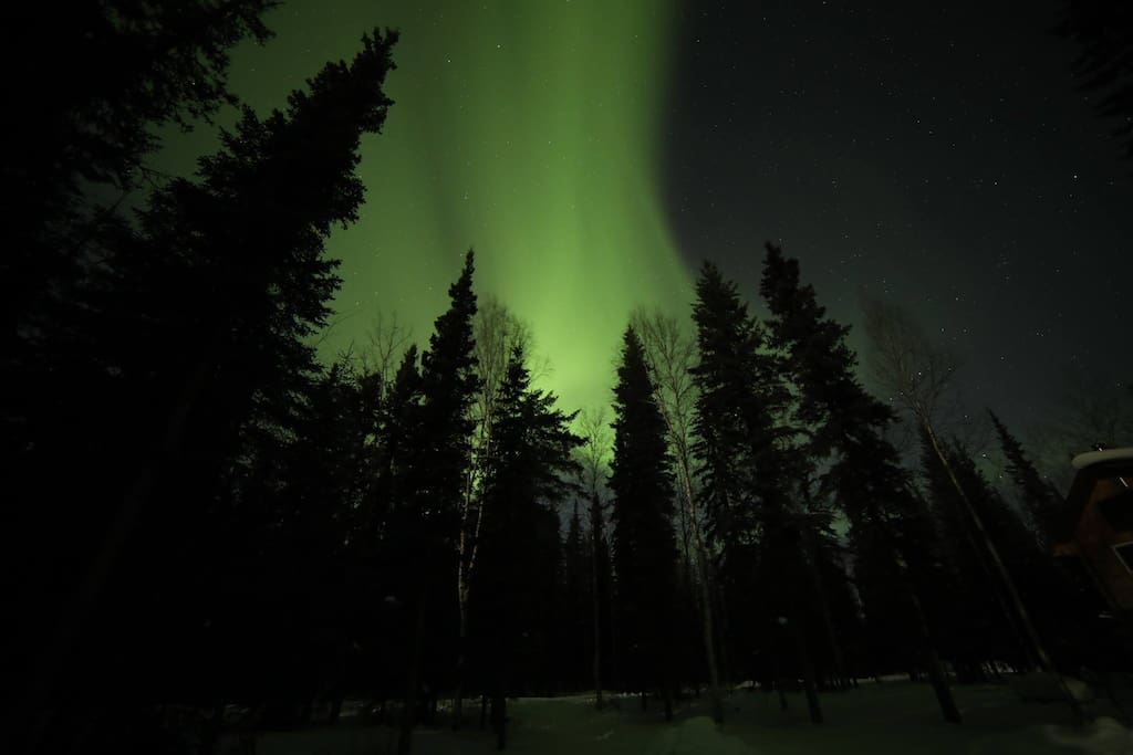 Northern lights are common late September to early April.
