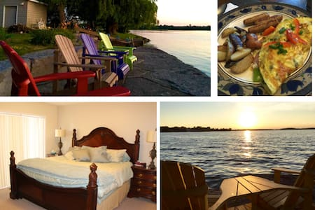 "Lakeshore Retreat: Waterfront ""Spa Room"" - Ennismore - Bed & Breakfast"
