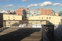 Spacious rooftop