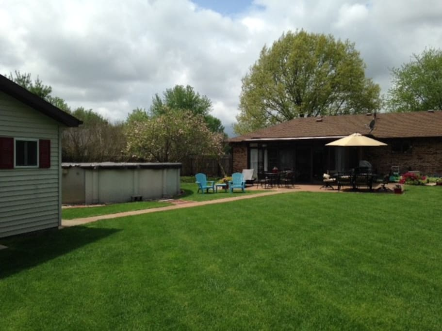 Large Fenced in yard with pool