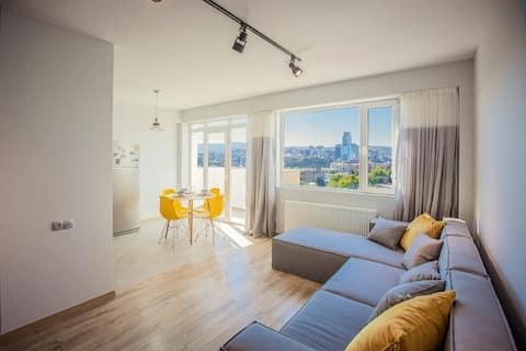 Stunning Penthouse   5 min to Agmashenebeli ave.