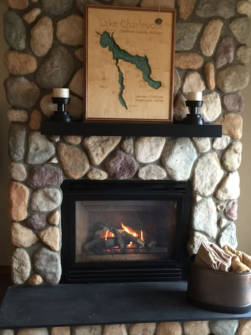 Gas fireplace on main level - perfect for cozy winter weekends!