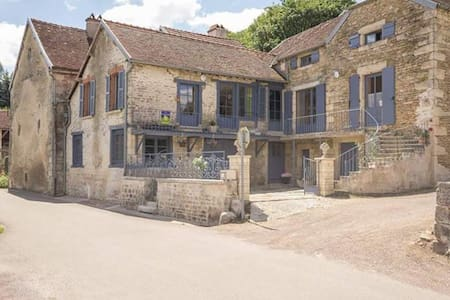 chambre aubergine - Rochefort-sur-Brévon