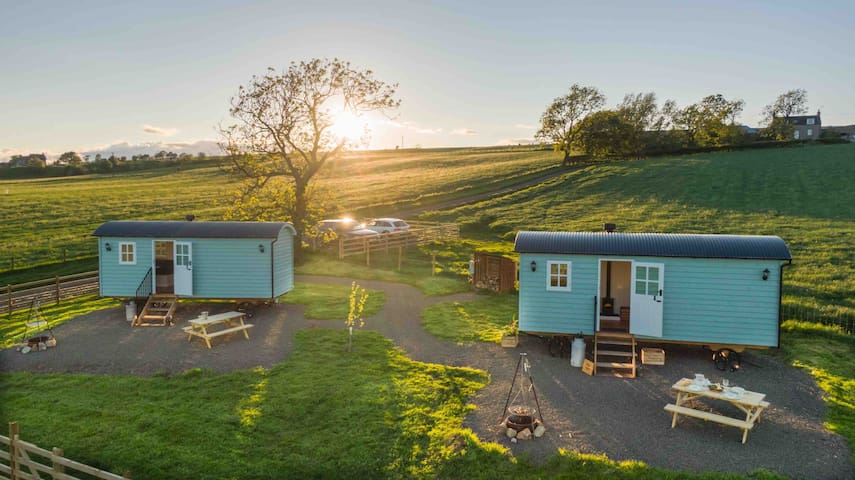 Shepherds Huts at Craigduckie Farm