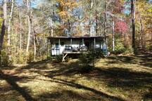 Creekside getaway camper on 1.8 acres