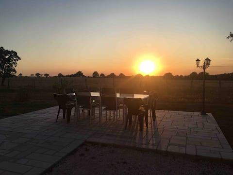 Gîte à l'orée de grandchamp, vue sur la campagne.