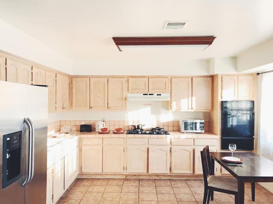 Sunny bright kitchen