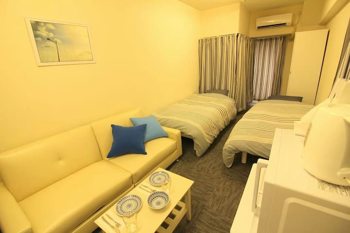 opening price Shinsaibashi sta 4min TV and WIFI - 大阪市 - Apartment