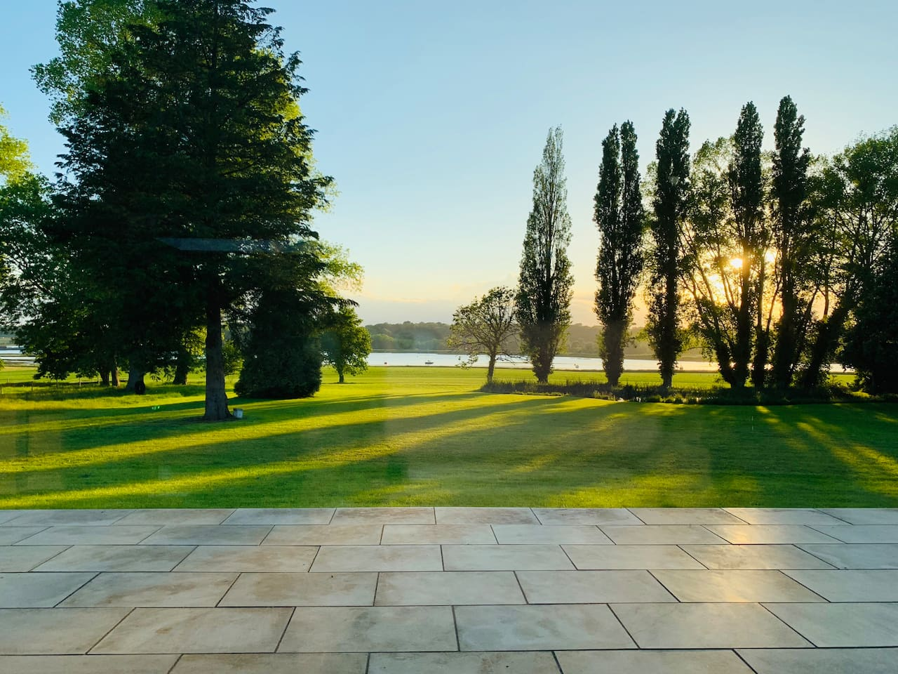This is the stunning view from the patio, all photographs are of the actual property and the private grounds here at Sutton Hoo Hall