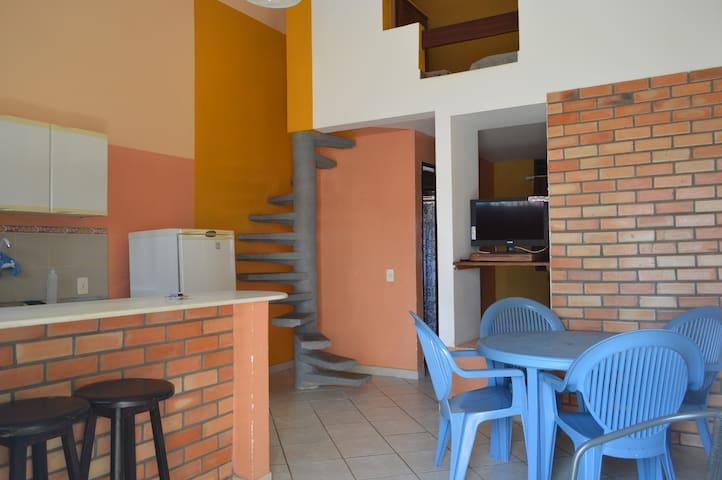 Duplex completo a 400m da Praia (5 pessoas)