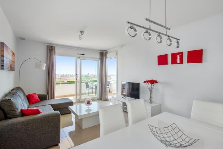 Appartement de 3 chambres à Orihuela, avec magnifique vue sur la mer, piscine partagée, jardin clos - à 3 km de la plage