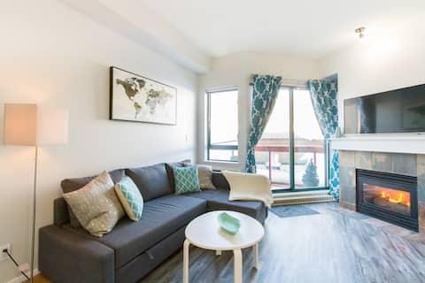 可爱的单间公寓,配备空调、加大双人床、主街、免费停车位