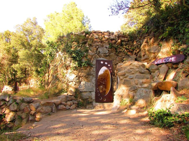 Ancient Roman Hobbit Cave in a Natural Reserve
