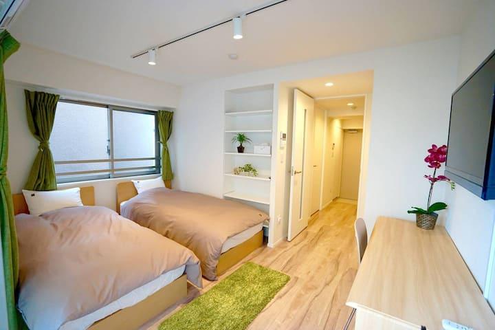 New Twin room in Tokyo: Skytree & Asakusa 301