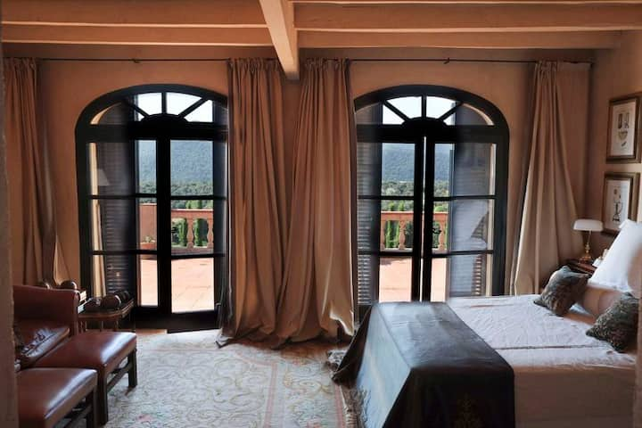 Mas Roure Vell - Terrasse suite in Garrotxa