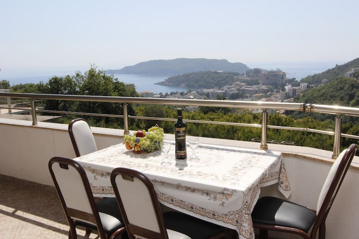 Private Terrace of One Bedroom Apartment with Panorama View