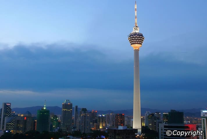 KL Tower - a mere 6 mins walking distance from the apartment