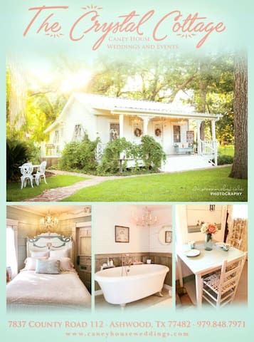 Crysyal Cottage in the Country with Bubble tub