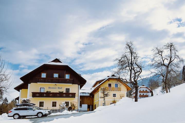 In 3 Minuten auf der Abfahrt – Hauserhof Nassfeld