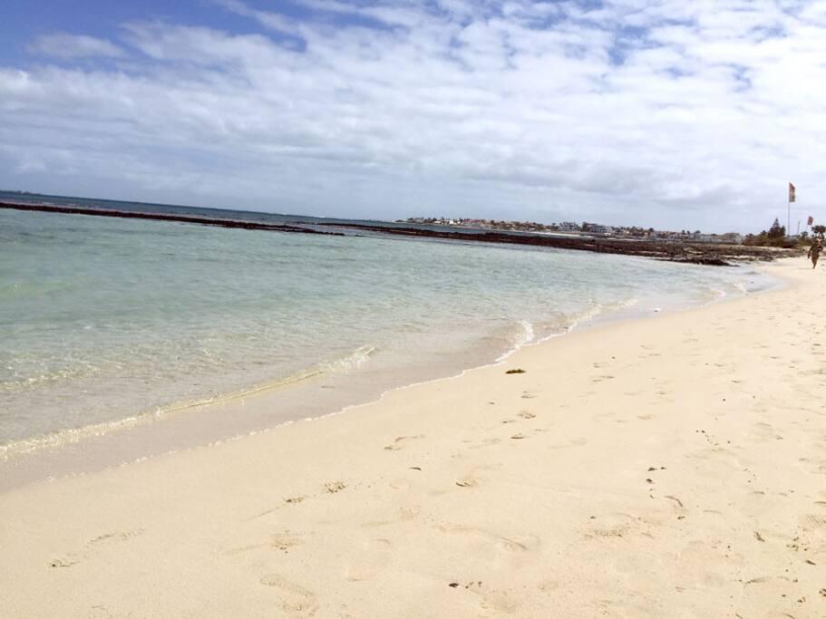 Beach by house