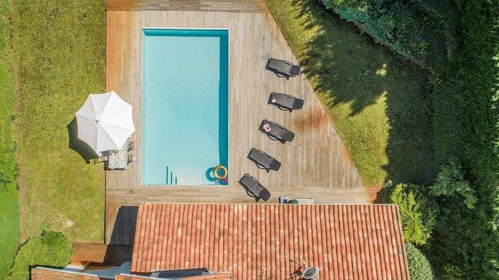 Profitez de votre piscine privée + du Club de golf de Moliets
