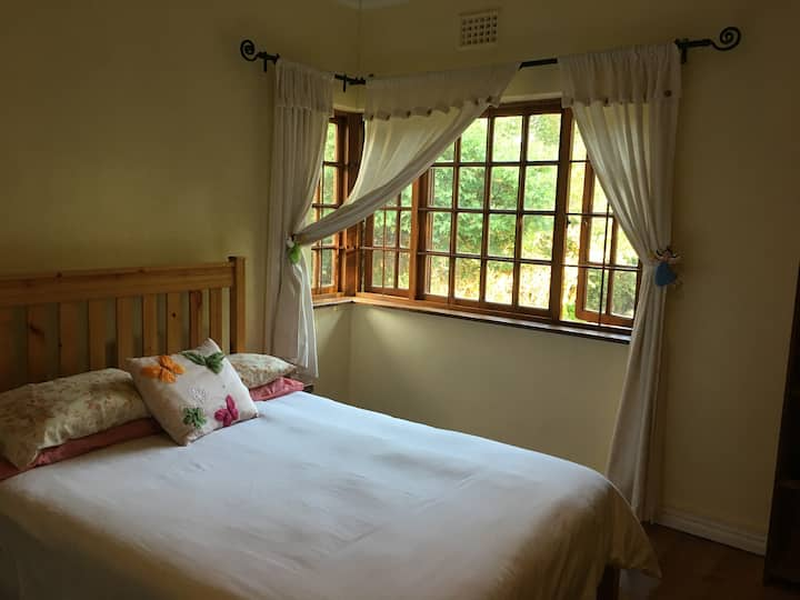 Spacious room in Wineland cottage with a salt pool