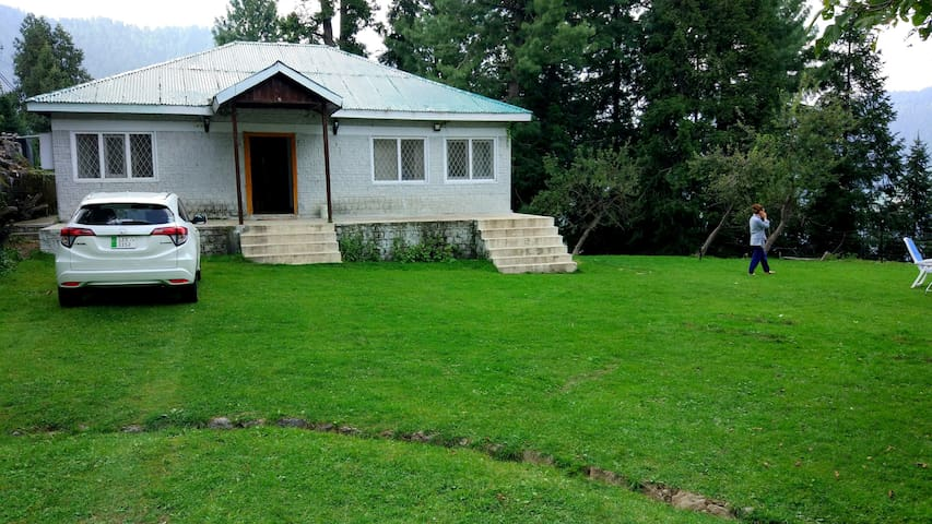 The cottage and the lawn