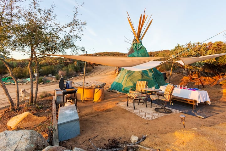 Tipi Glamping with beautiful views of San Diego