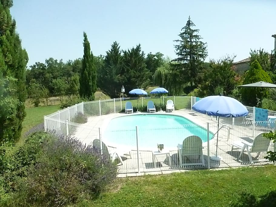 Swimming Pool, with Sun Loungers, Umbrellas, etc