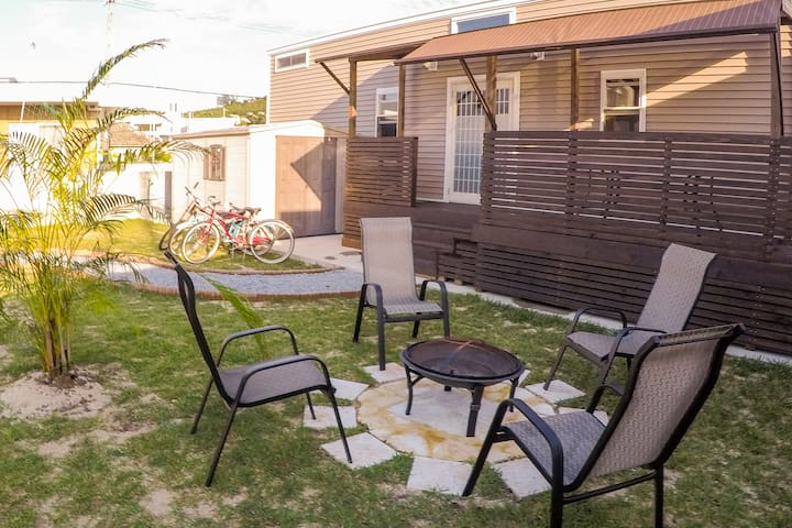 Experience Okinawa at our one of a kind Tinyhouse