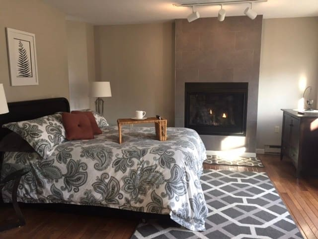 Master Suite and gas fireplace