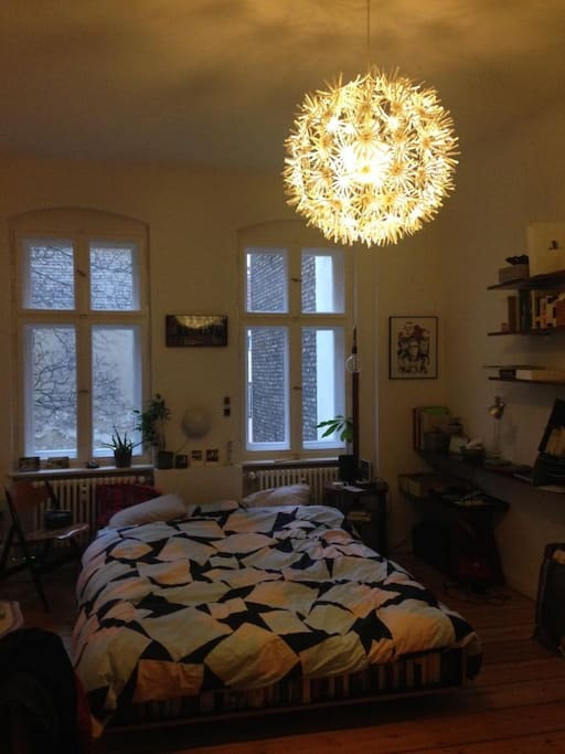Ruhiges Schlafzimmer zum Hof