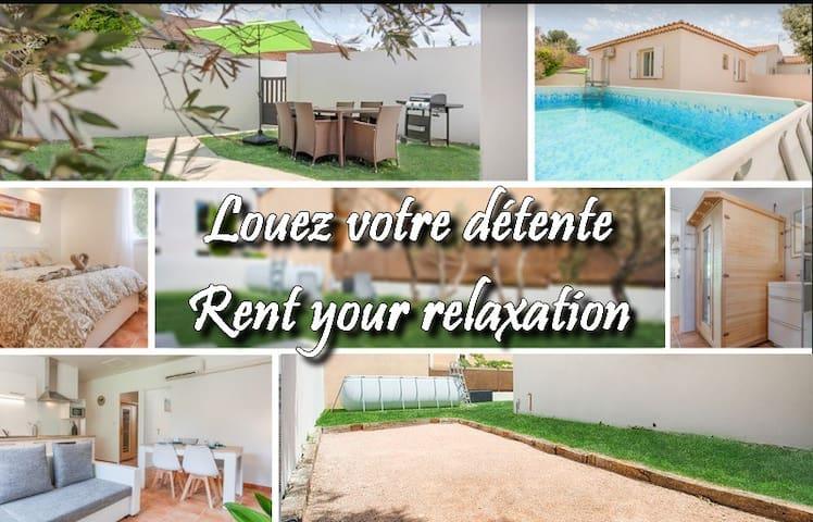 RelaxFlat: piscine, pétanque, sauna, jardin privés